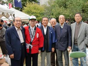 にしのみや市民祭り市長支部長顧問の皆さん.JPGのサムネイル画像