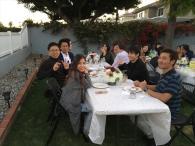 ロサンゼルス千里会<br>国際インターンシップ 参加学生との懇親会で